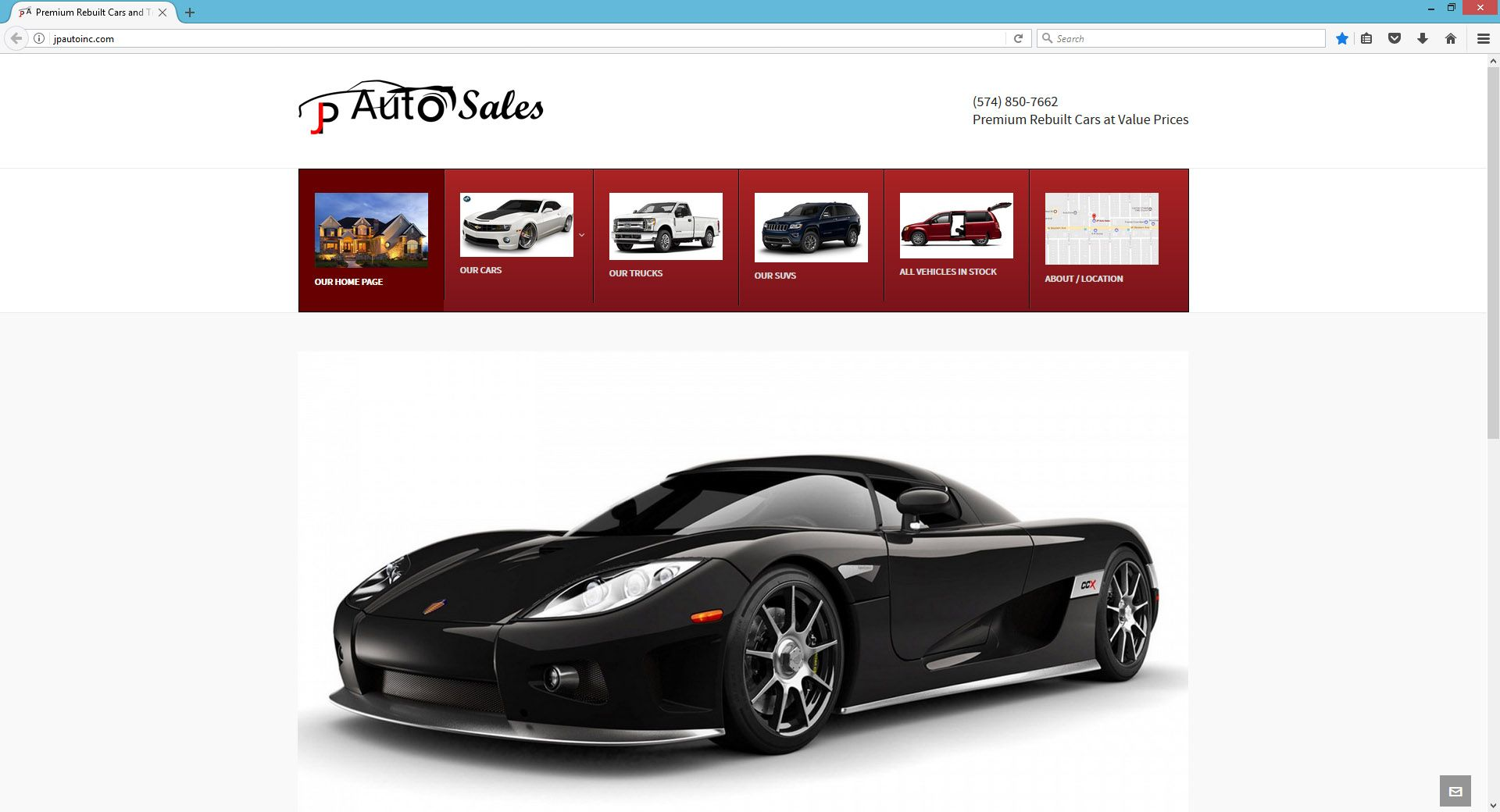 Car Dealership Website Design in Indiana