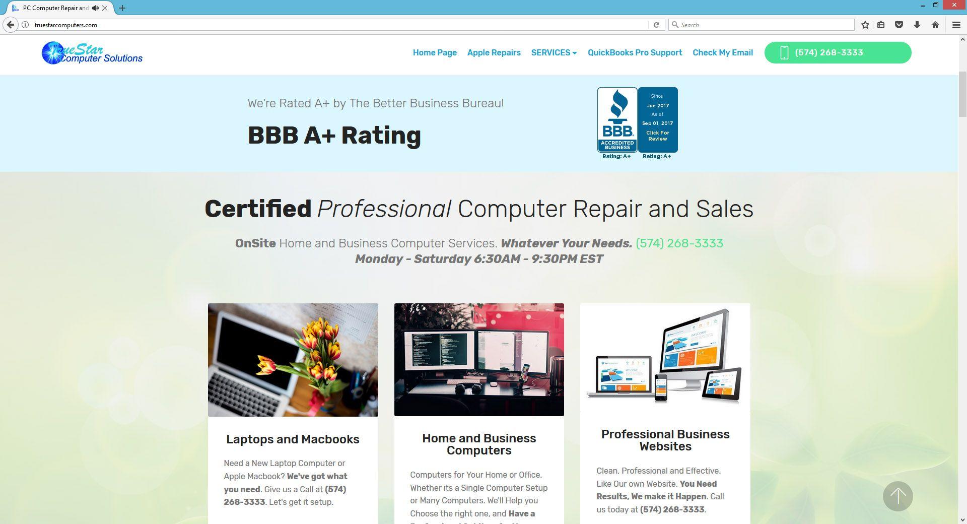 Website Design by Professionals Warsaw Indiana | True Star Computer ...